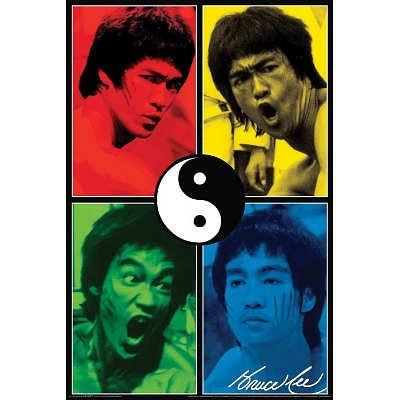 24X36  Bruce Lee   Yin Yang Pop Art Movie Poster