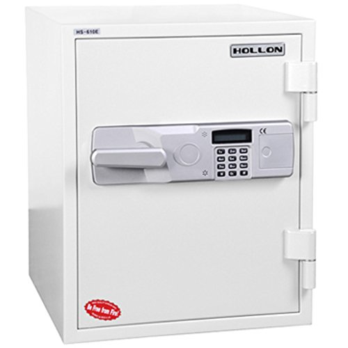 Hollon Safe HS-610E 2 Hour Fireproof Office Safe, 1.5 Cubic feet, White