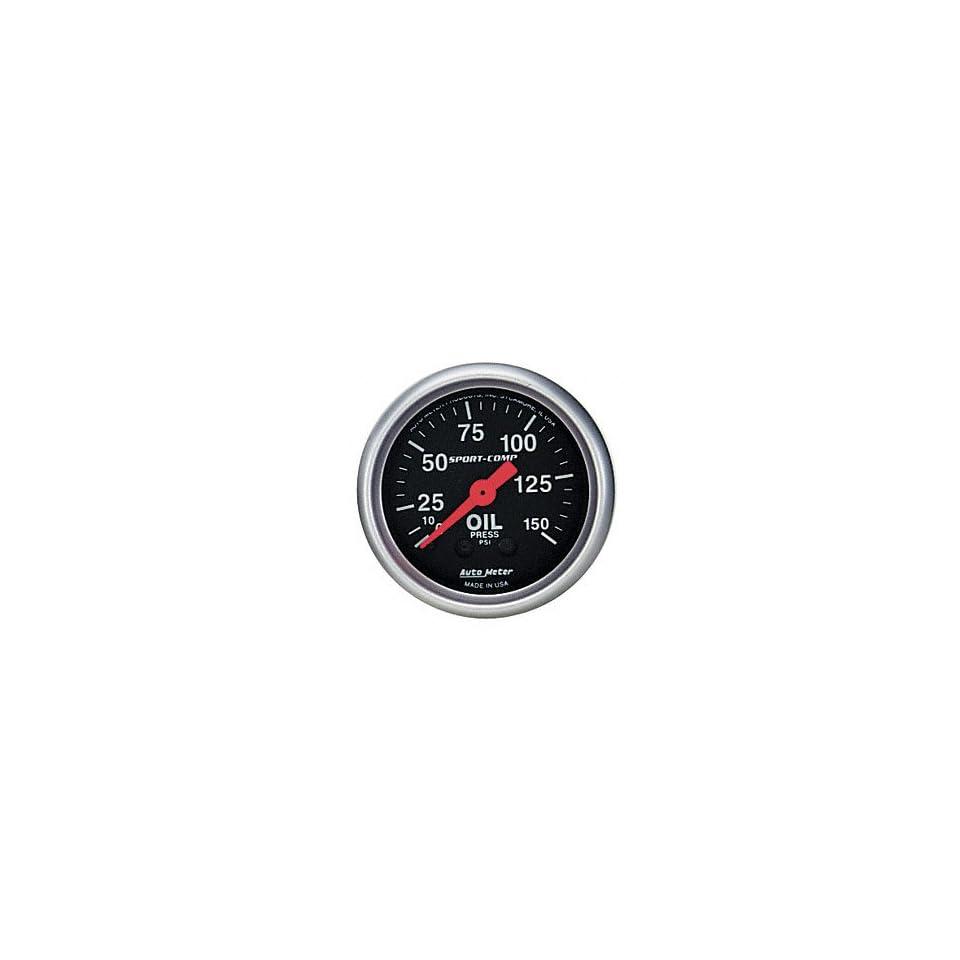 Auto Meter 3423 2 5/8 0 150 PSI Mechanical Oil Pressure Gauge