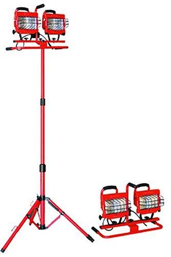 Bayco SL-1006 Halogen Lights 1, 000W Red