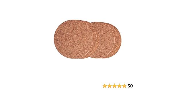 dessous de plat rond 17,8 cm de diam/ètre 7 Oreilles de chat gris fonc/é Lot de 3 dessous de plat de cuisine 100 /% pur coton tiss/é