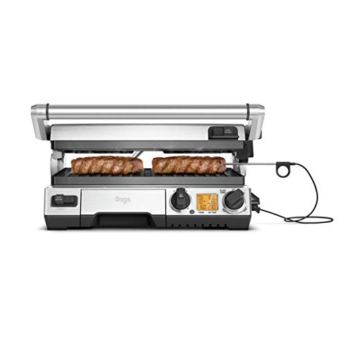 Sage BGR840BSS the Smart Grill Pro with Built-In Temp Control Probe, Silver