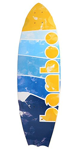 Bamboo Skateboards Bat Tail Lined-Up Graphic Skateboard Deck, 31.5