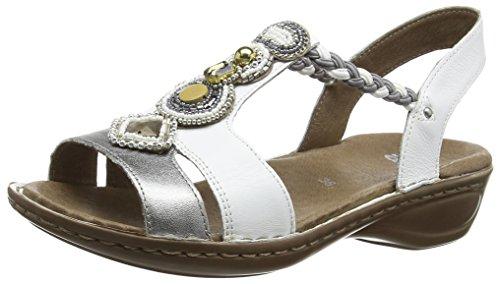 Ara Hawaii Ladies Ankle Strap Sandalen Veelkleurige (pistool / Wit 05)