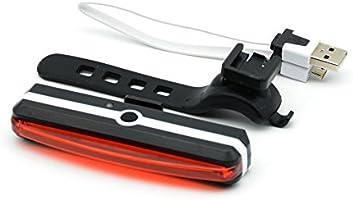6/modos USB recargable impermeable 180//° luz Vista. Super brillante Rojo luz LED bici luz trasera para bicicleta