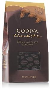 Godiva Chocolatier Dark Chocolate, Almonds