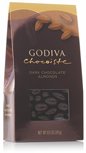 Godiva Chocolatier Dark Chocolate Covered Almonds, Great for Holiday Gifting, 8.5 ounce bag