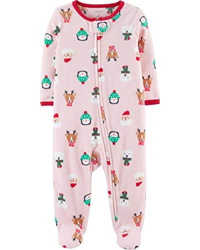 Carter's Baby Girls' Christmas Zip-Up Fleece Sleep & Play (Newborn)