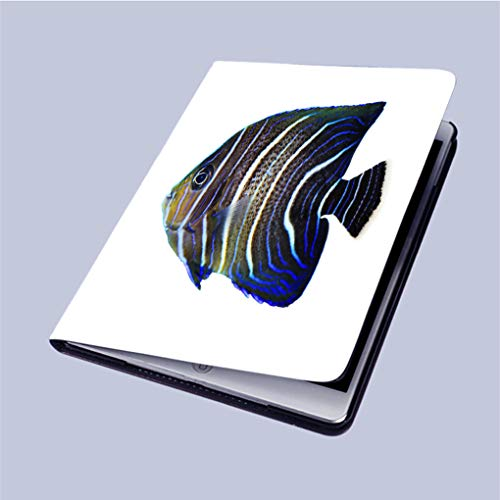 Compatible with 3D Printed iPad 9.7 Case,Koran-Angelfish Lightweight Anti-Scratch Shell Auto Sleep/Wake,Back Protector Cover iPad 9.7