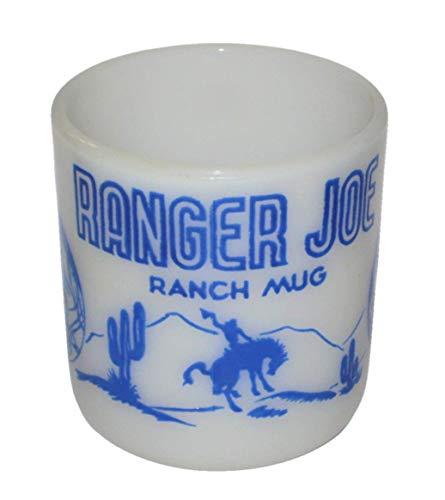 Vintage Milk Glass Ranger Joe Ranch 3 Inch Glass Mug ()