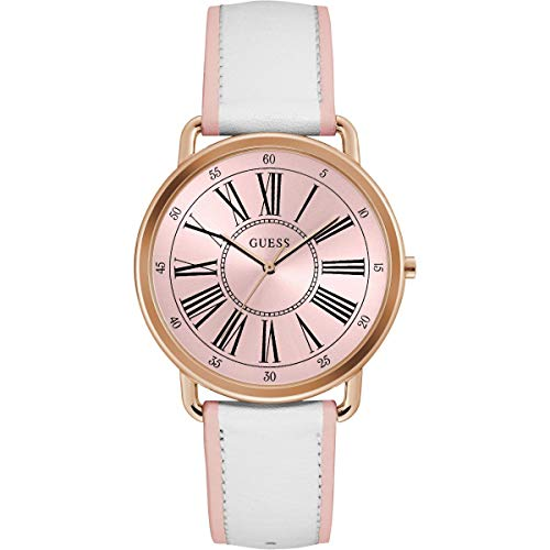 Guess Womens Analogue Quartz Watch with Leather Strap 8431242949369