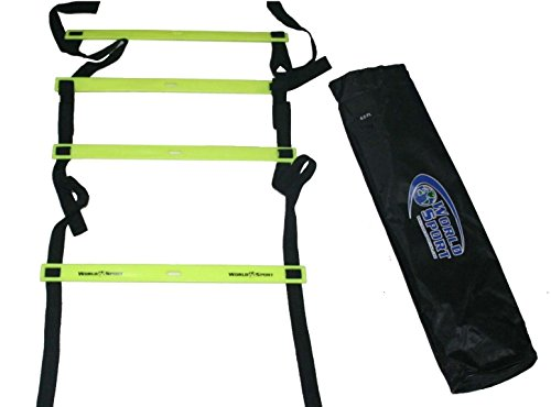 World Sport 6 Foot Flat Rung Agility Ladder with Bag