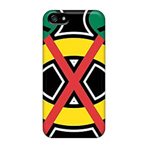 For ALeonards Iphone Protective Case, High Quality For Iphone 5/5s Chicago Blackhawks Skin Case Cover
