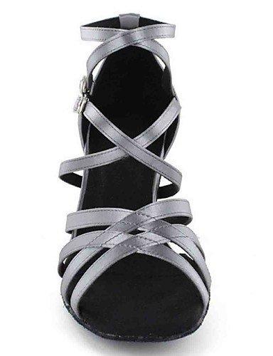 ShangYi Chaussures de danse(Noir / Vert / Rouge / Gris / Autre) -Personnalisables-Talon Personnalisé-Similicuir-Latine , champagne-us6 / eu36 / uk4 / cn36 , champagne-us6 / eu36 / uk4 / cn36