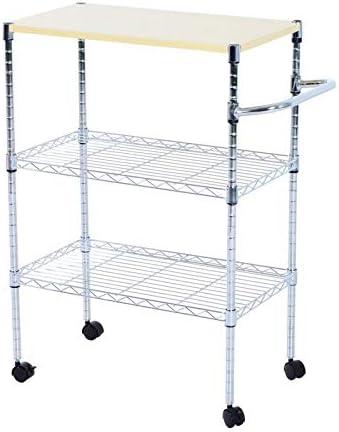 Bakers Rack,3 Tier Kitchen Corner Shelf Microwave Oven Cart