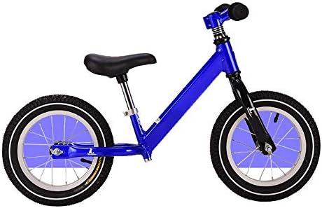YUMEIGE Bicicletas sin pedales Bicicleta de equilibrio para niños Rueda de radios Marco de aleación de aluminio Bicicletas sin pedales Adecuado para niños de 1 a 6 años. Asiento regulable en 4