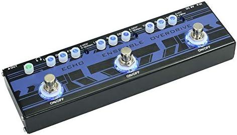 ギターエフェクト エコー、アンサンブルオーバードライブ効果柔軟な調整で1つのエレキギターエフェクトペダルで3 より良い音楽を表示する (Color : Purple, Size : Free size)