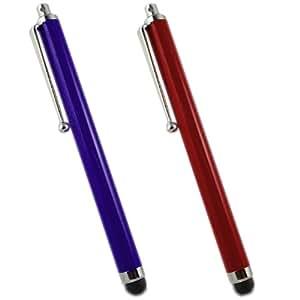 Samrick High Capacitive Aluminium Stylus Pen for Blackberry Storm 9530 - Red/Blue (Pack of 2)