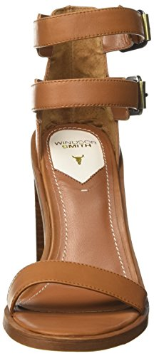 Windsor Smith Tammie, Scarpe Col Tacco con Cinturino Alla Caviglia Donna Marrone (Tan)