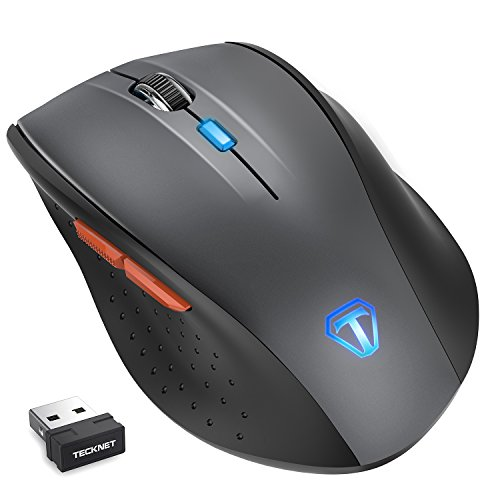 TeckNet Classic 2.4G Programmable Wireless Mouse with USB