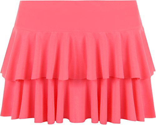 jupe Mini Rose ruche Fluorescent Jupes 36 Femmes WearAll Tailles 42 85qd48