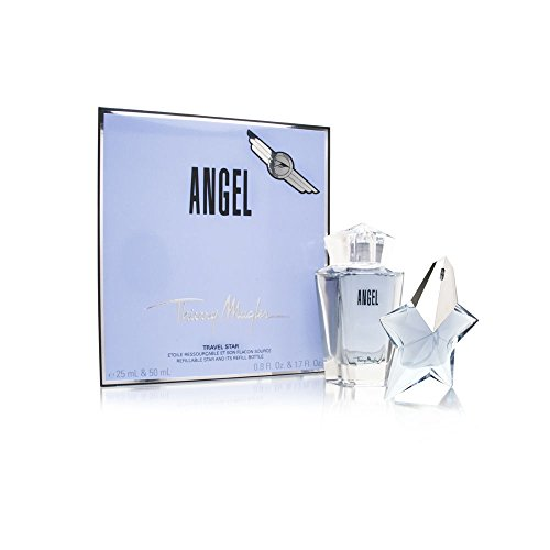 Angel by Thierry Mugler for Women 2 Piece Set Includes: 0.8 oz Eau de Parfum Spray Refillable + 1.7 oz Eau de Parfum Refill Flacon