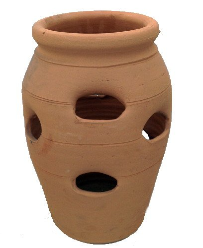 (Standard Strawberry Pot - Herb Jar - Terracotta - 9 Pocket - 3 Gallon - 8