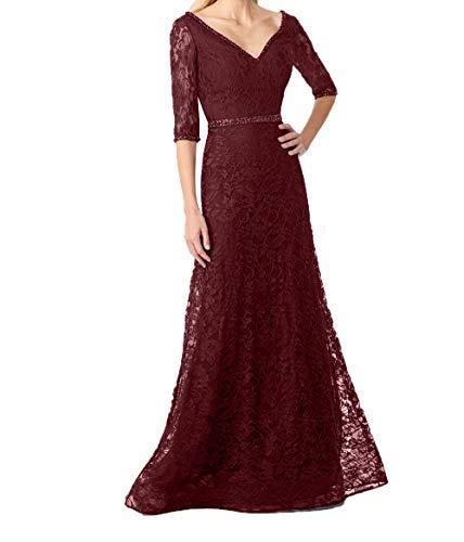 Blau Festlichkleider Linie Lang Rock Charmant Burgundy Brautmutterkleider Promkleider Navy Damen 2018 Abendkleider A fqqtHaYn