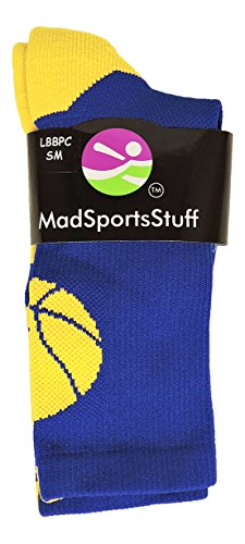 MadSportsStuff Basketball Logo Athletic Crew Socks (over 20 colors)