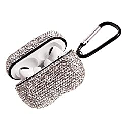 Silver Luxurious Rhinestone AirPods Case