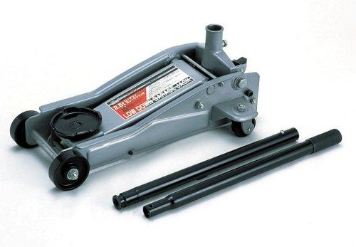 メルテック ガレージジャッキ(2.5t) ローダウン対応 油圧式 最高値:470mm/最低値:100mm/ストローク:370mm Meltec F-71 B000T0HNAQ