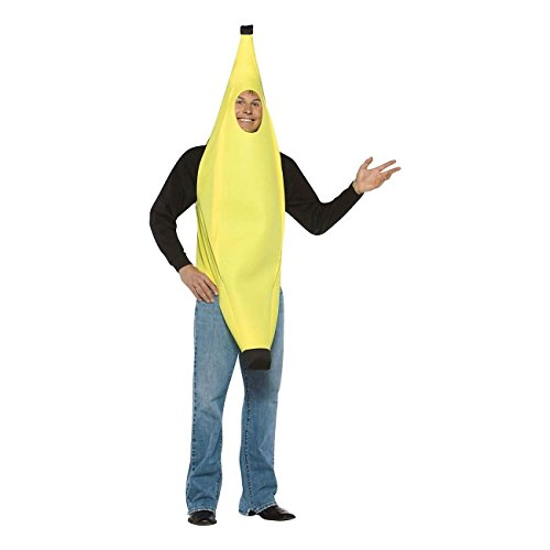[Adult Funny Suit Gag Banana Costume Fancy Dress Halloween Party Favor- Trending Online] (Top Diy Halloween Costumes 2016)