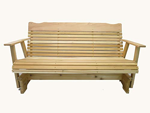 Kilmer Creek 5 Natural Cedar Porch Glider, Amish Crafted