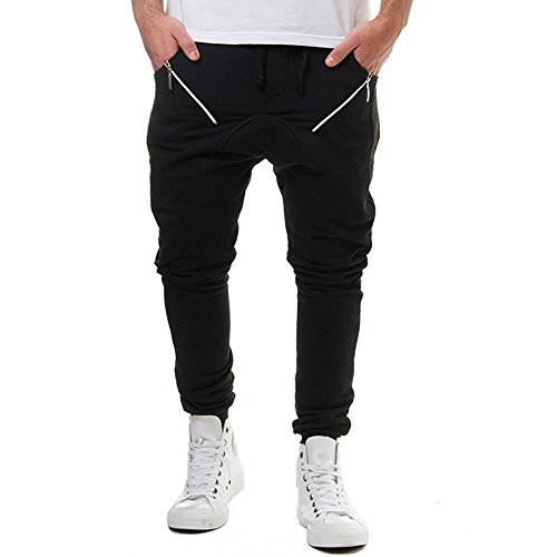 Newlyblouw New Mens Ripped Jeans Skinny Stretch Trousers Zipper Foot Denim Pants Tights Distressed Summer Hip Hop Slacks Black