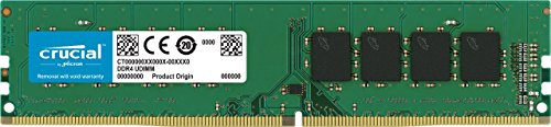 (Crucial 16GB Single DDR4 2400 MT/s (PC4-19200) DR x8 DIMM 288-Pin Memory - CT16G4DFD824A)