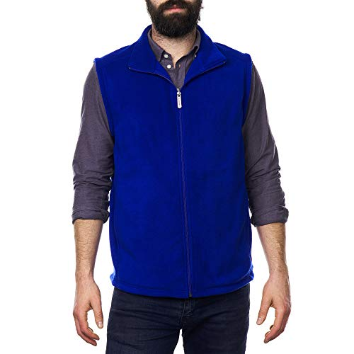 Alpine Swiss Ethan Mens Full Zip Up Fleece Vest