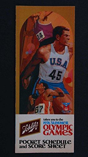 1976 SUMMER OLYMPIC GAMES POCKET SCHEDULE AND SCORE SHEET