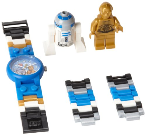 - LEGO Kids Star Wars C-3PO and R2-D2 Plastic Watch with Link Bracelet and Coordinating Figurines 9001178