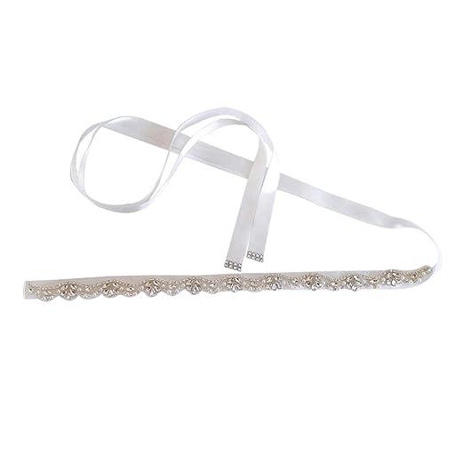 LOVIVER Cinturón de Vestido de Novia Diseño de Diamantes de ...