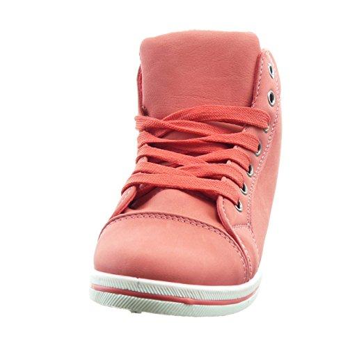 Sapatilha Acabado Sopily Moda Da Da Vermelho Das Mulheres Quilt Sapatos Costurado qxYxHU