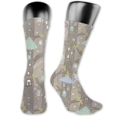 OLGCZM Rustic Lodge Bear Moose Men Womens Thin High Ankle Casual Socks Fit Outdoor Hiking Trail