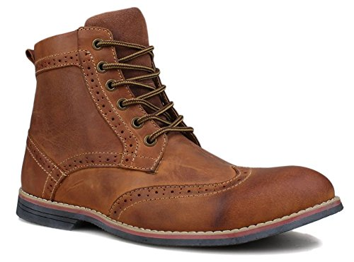 Froon Men's Leather 1702 Lace up Premuim Casual Boot US Size 11.5 Brown