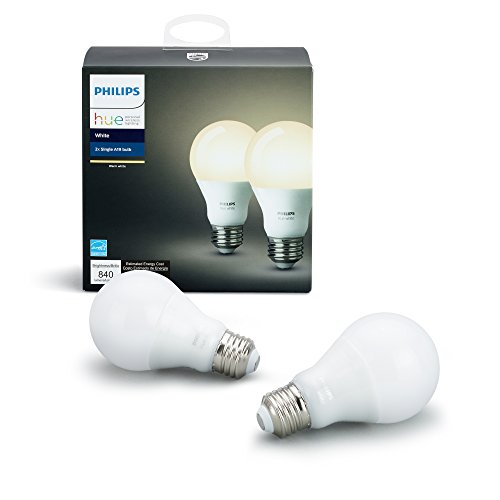 Philips Hue White A19 60W Equivalent Dimmable LED Smart Bulb 41TDasuqVeL
