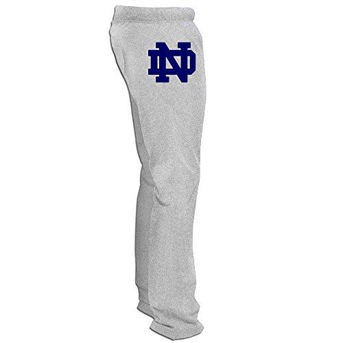 Mens Notre Dame Fighting Irish Logo Sweat Pants Ash Medium