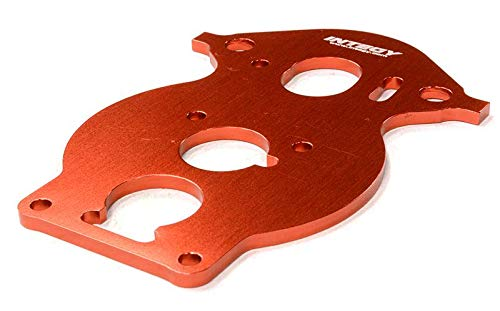 (Integy RC Model Hop-ups C26452RED Billet Machined Motor Plate for HPI 1/10 Scale Crawler King)