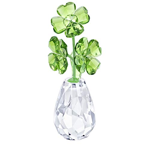 Swarovski Crystal Flower Dreams - Four Leaf Clovers Decoration Figurine 5415274