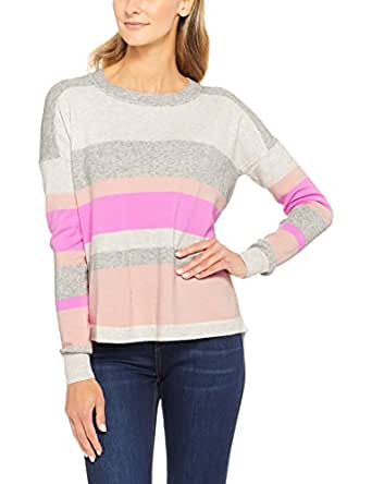 French Connection Women's Varsity Knit, Multicolored (Blush/Orchid Pink/Gr), X-Small