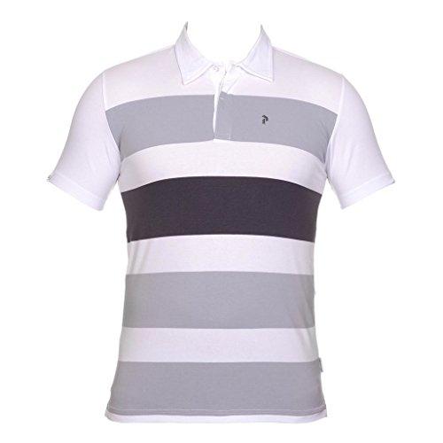 Peak Performance G Stripess Short Sleeve Polo White; size:S