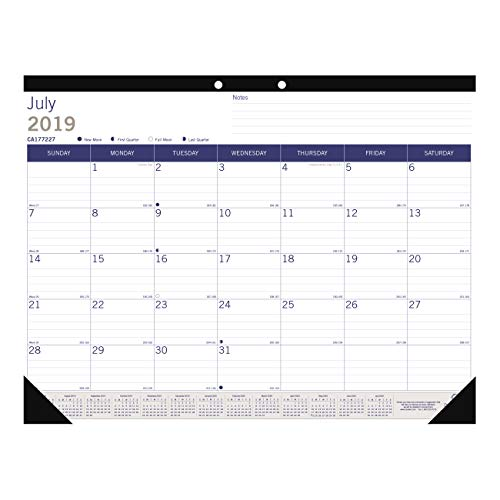 Blueline DuraGlobe Monthly Desk Pad, Academic Desk Calendar, 13-Month, July 2019 to July 2020, 22 x 17 inches (CA177227-20) ()