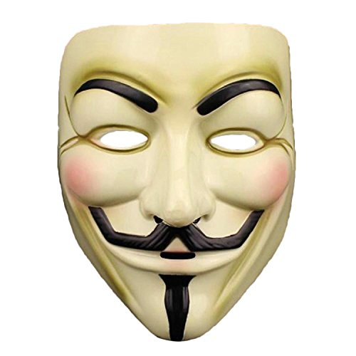 V for Vendetta Anonymous Mask Masquerade Halloween Fancy Dress Cosplay - 9